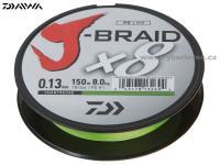Pletená šnůra Daiwa J-Braid 300m 0.18mm chartreuse