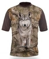 Myslivecké tričko Hillman Gamewear Vlk 3D kamufláž