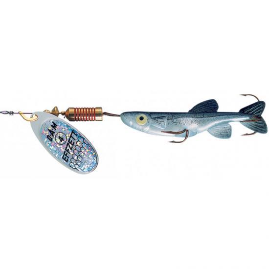 Třpytka DAM FZ s gumovou rybou 7g Silver/Black