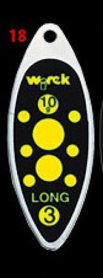 třpytka wirek 4g-long1-černá,žluté tečky
