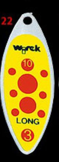 třpytka wirek 4g-long1-žlutá,červené tečky