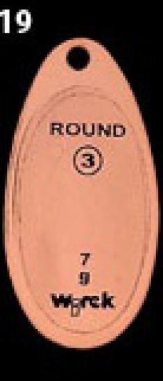 třpytka wirek 7g-round3-bronz