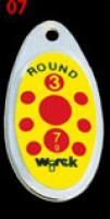 třpytka wirek 4g-round2-stříbrná-žlutá,červ.tečky