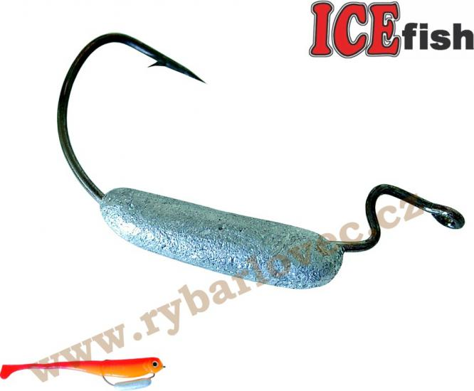 ICE fish vláčecí háček W-zátěž -1/0-5g 4ks v bal.