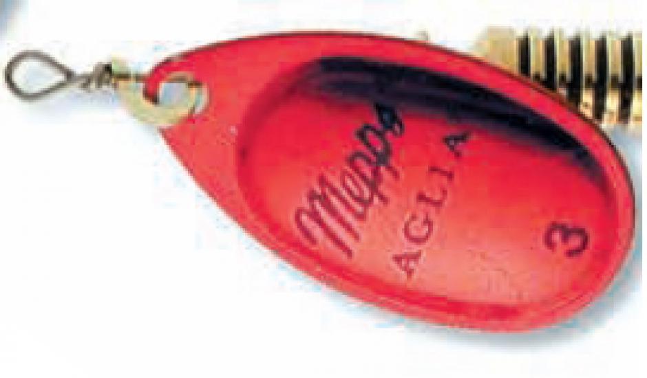 Mepps aglia platium červená 3/6,5g