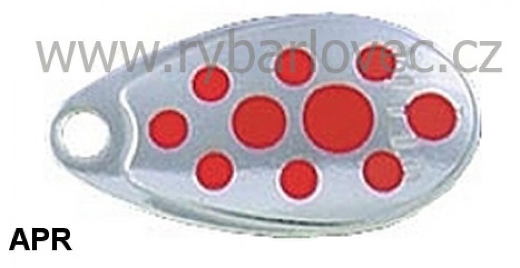 Rublex Celta APR stříbrná-červené tečky 3/5g