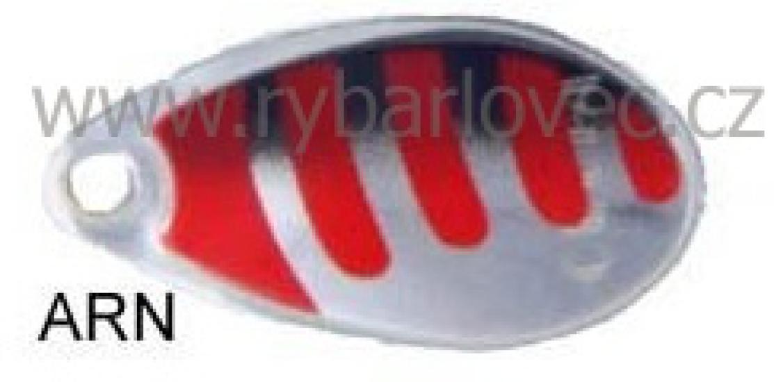 Rublex Celta ARN stříbrná-červené pás+černá 1/2g