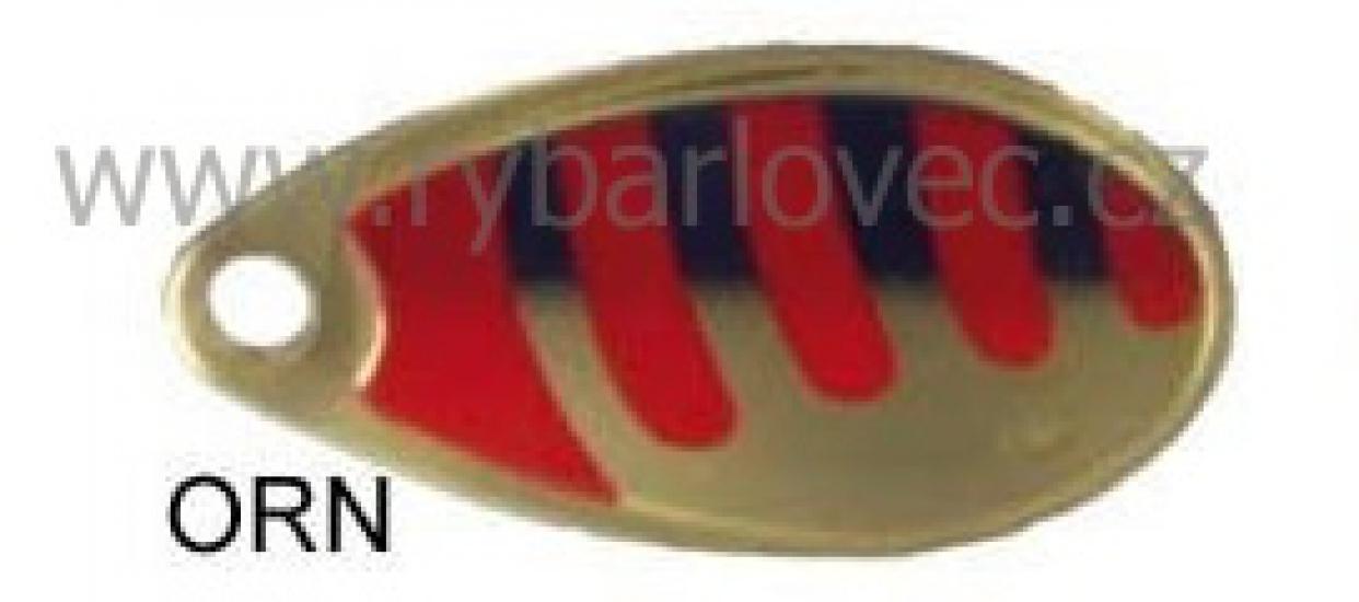 Rublex Celta ORN zlatá-červené pásky+černá 1/2g