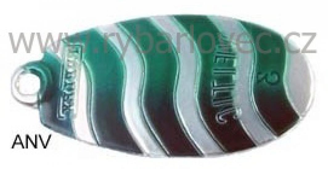 Rublex Veltic ANV stříbrná-zel.pásky,černá 2/3,5g