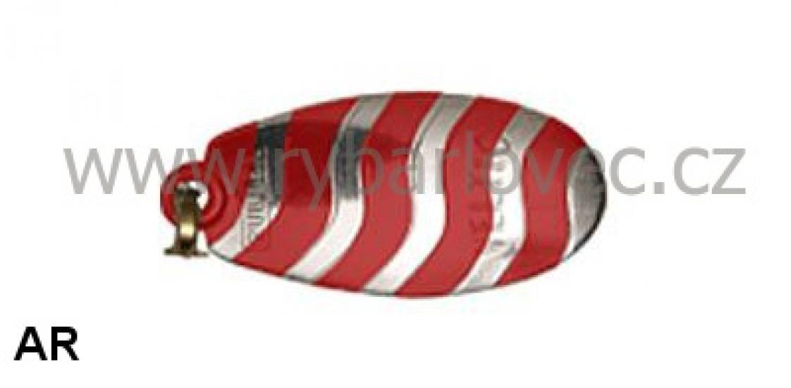 Rublex Veltic AR stříbrná-červe.pásky 3/5g