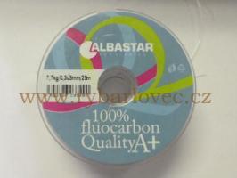 100% fluorocarbon albastar 25m/0,125mm/1,70kg