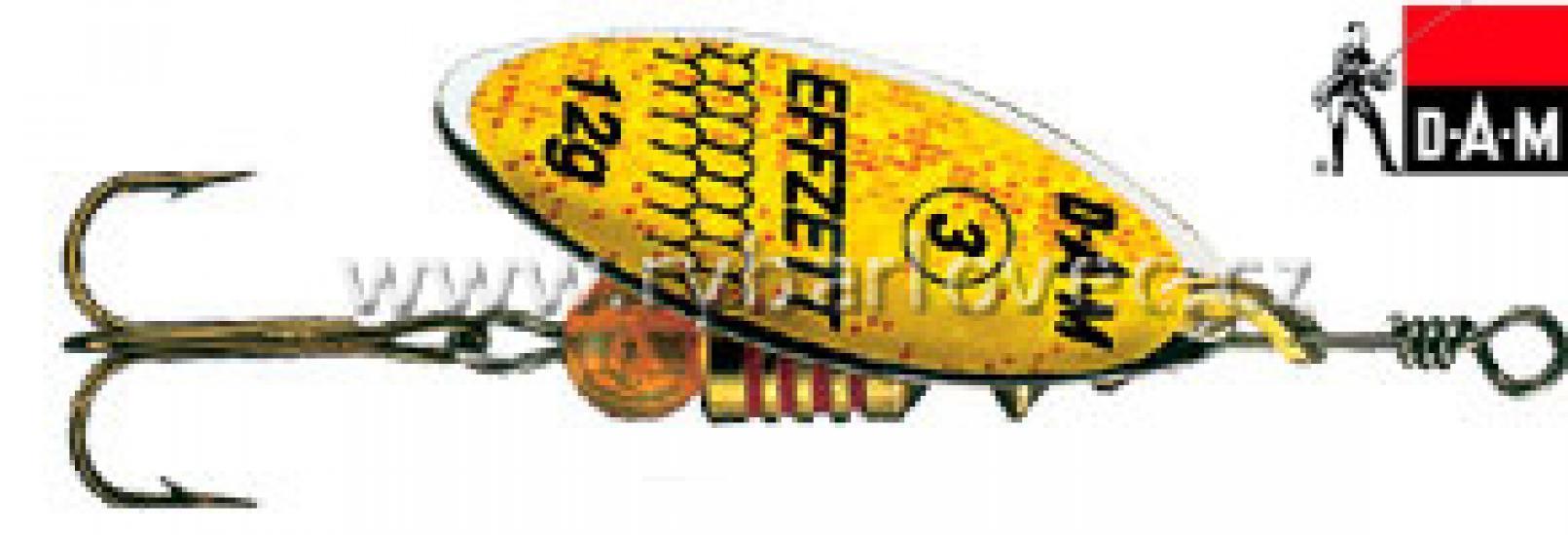 Třpytka DAM EFFZETT Predátor 3g žlutá glitter