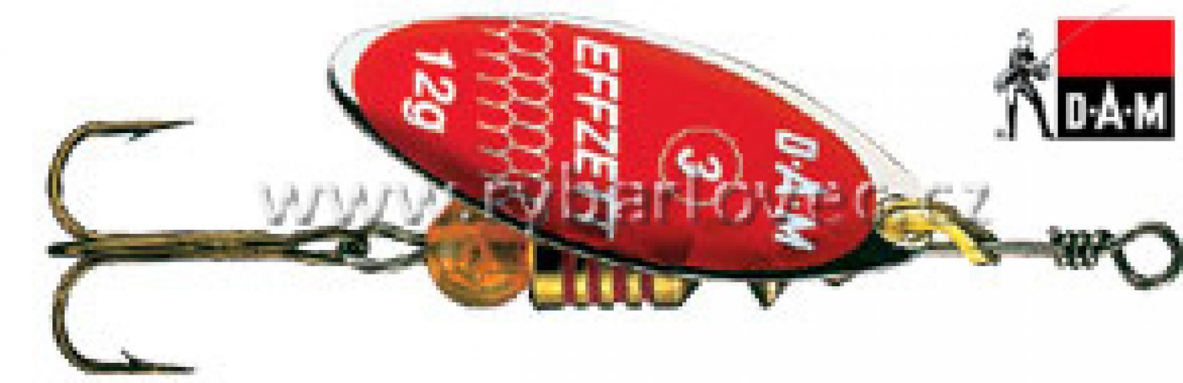 Třpytka DAM EFFZETT Predátor 4g červená glitter
