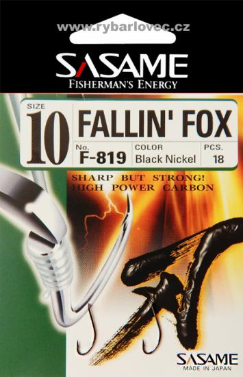 Háčky Sasame Fallin Fox s lopatkou vel.12