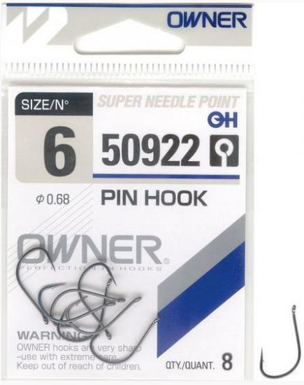 Háčky Owner Pin Hook 50922 vel.4 7ks/bal.