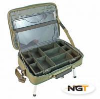 Stolek v Kufříku NGT Box Case Tackle Bag