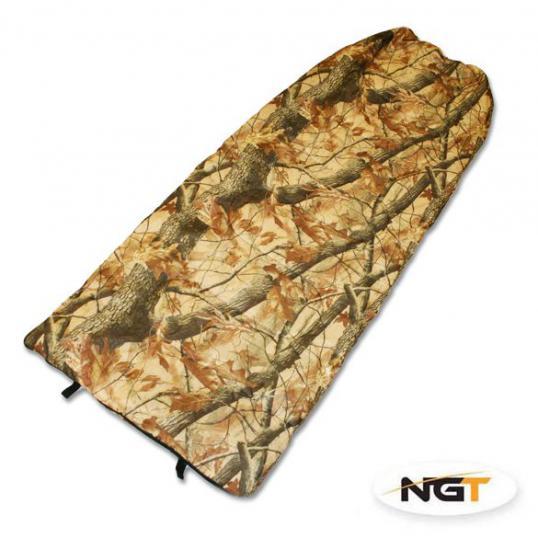 NGT Spací pytel Camo Sleeping Bag With Case