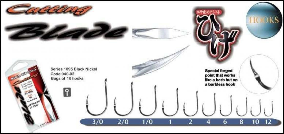 Háčky Awa-shima Cutting Blade 1095 vel.8