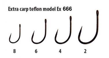 Háčky teflon Barbless série Ex 666 vel.2