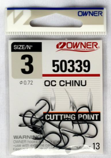 Háčky Owner Oc Chinu 50339 vel.2/0 9ks/bal.