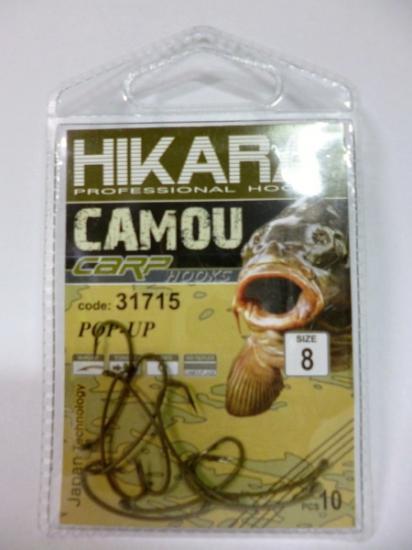 Háček HIKARA camou carp pop-up 8 (31715)