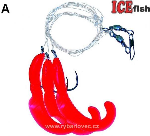 ICE fish Úhořík návazec 8cm-4/0 moře