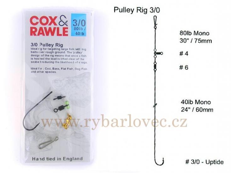 Cox Rawle Pulley Rig 3/0 mořský návazec