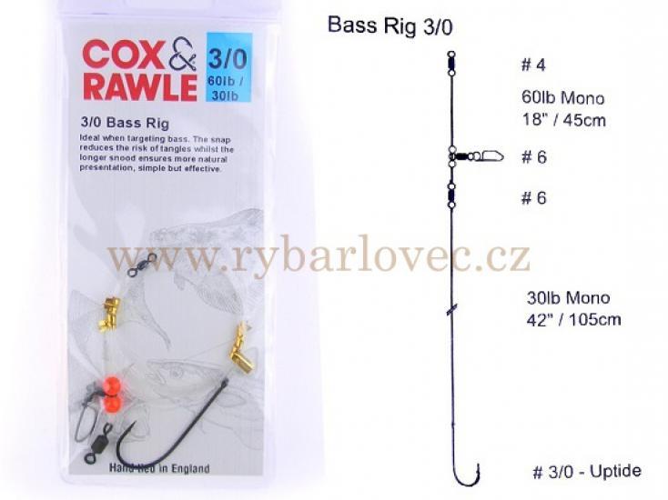 Cox Rawle Bass Rig 3/0 mořský návazec