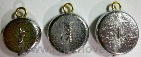Olovo 15g mince závěsná