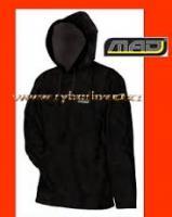 MAD Mikina fleece černá s kapucí M