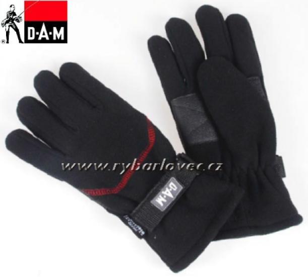 Rukavice fleecové DAM černé Hot