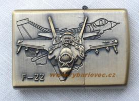 Stylový zapalovač na benzin bitevní letoun F-22
