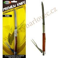 Nůž s vidličkou Carson - rozkládací