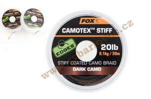 Fox šňůra EDGES Camotex Stiff Dark 20lb/20m