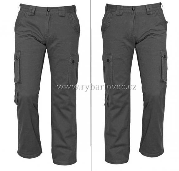 Kalhoty CHENA příjemné černé kapsáče vel.L