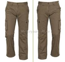 Kalhoty CHENA příjemné olivové kapsáče vel.L