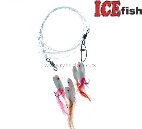 ICE fish Mořský návazec sledi-fluo
