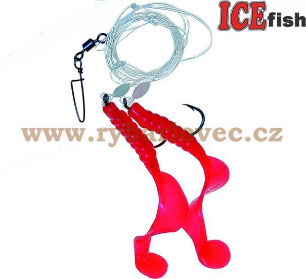 ICE fish twister návazec na moře 9cm-5/0-160cm