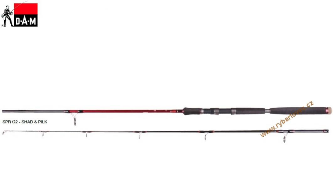 Prut DAM Steelpower Red G2 Shad and Pilk 2,40m
