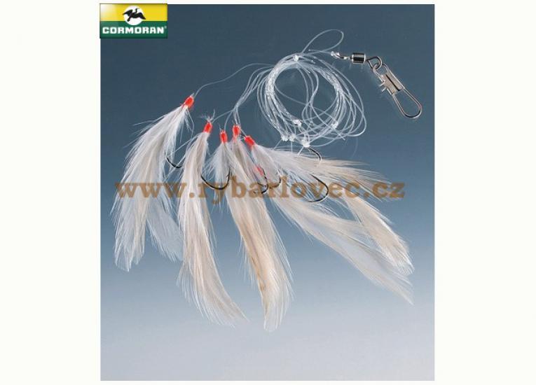 Návazec Cormoran na makrely peříčko - peří bílé