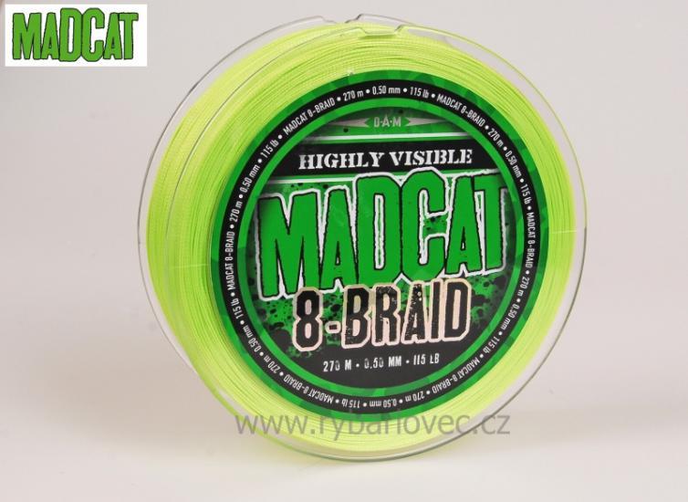 Šňůra MadCat 8-Braid 0,70mm 270m 72,5kg