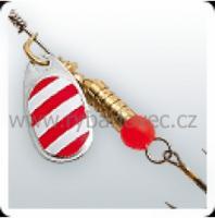 třpytka wirek 1,9g-round0-stříbrná-bílo-červené pr