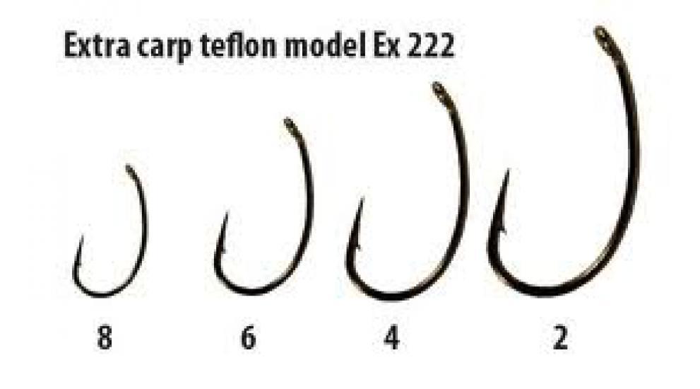 Háčky Extra carp teflon série Ex 222 vel.2