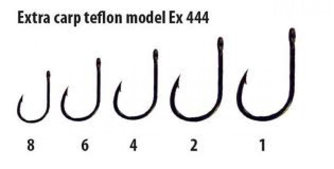 Háčky Extra carp teflon série Ex 444 vel. 8