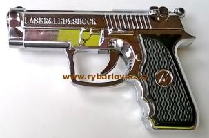 Baterka Shock tvar pistole s elek.výbojem a laser
