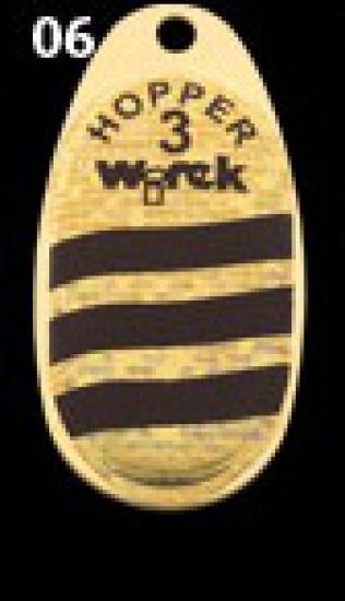 třpytka wirek 4,5g-hopper2-zlatá perleť-černé pruh