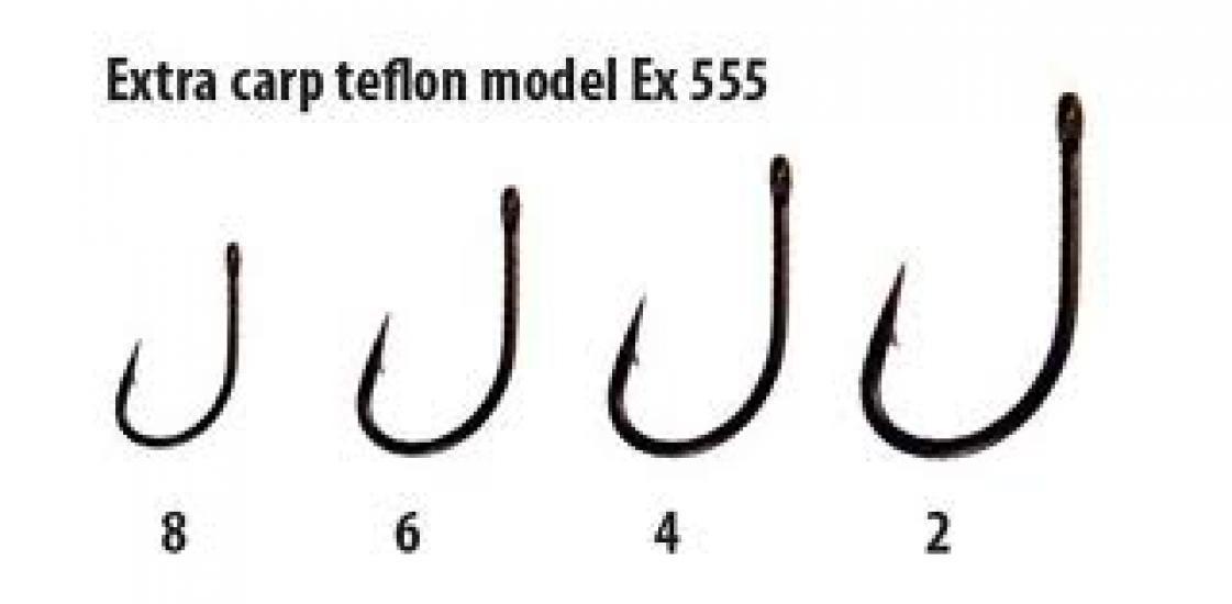 Háčky Extra carp teflon série Ex 555 vel. 4