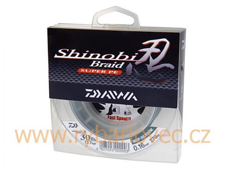 Šnůra Shinobi tmavě zelená 270m/ 0,12mm