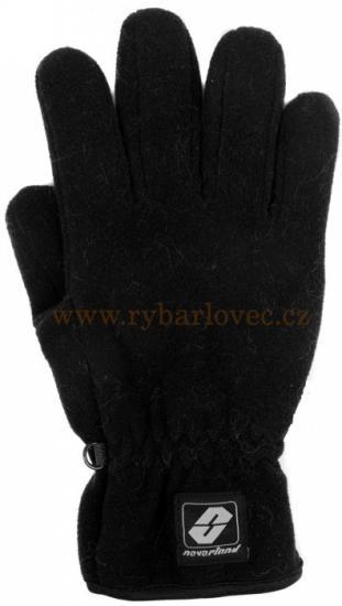 Rukavice fleece Nomad Neverland snow černé