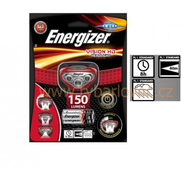 Čelovka Energizer 3LED VISION HD Headlight 150 lum